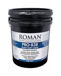 ROMAN PRO-838 Heavy Duty Clear High Strength Modified Starches Wallpaper Adhesive 5 gal.