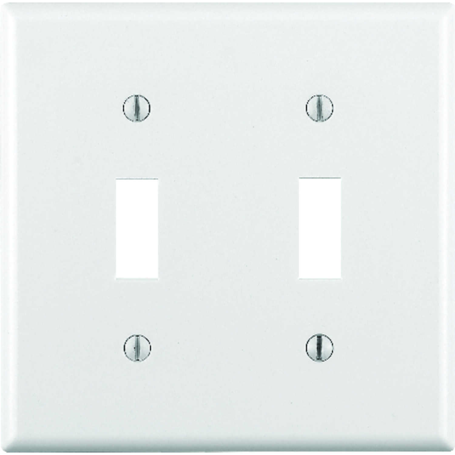 Leviton  White  2 gang Plastic  Wall Plate  Toggle  1 pk