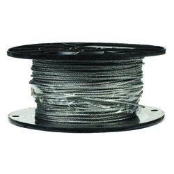Campbell Chain  Galvanized  Galvanized Steel  3/32 in. Dia. x 500 ft. L Aircraft Cable