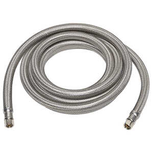 Ace  1/4 in. Compression   x 1/4 in. Dia. Compression  Stainless Steel  20 ft. Supply Line