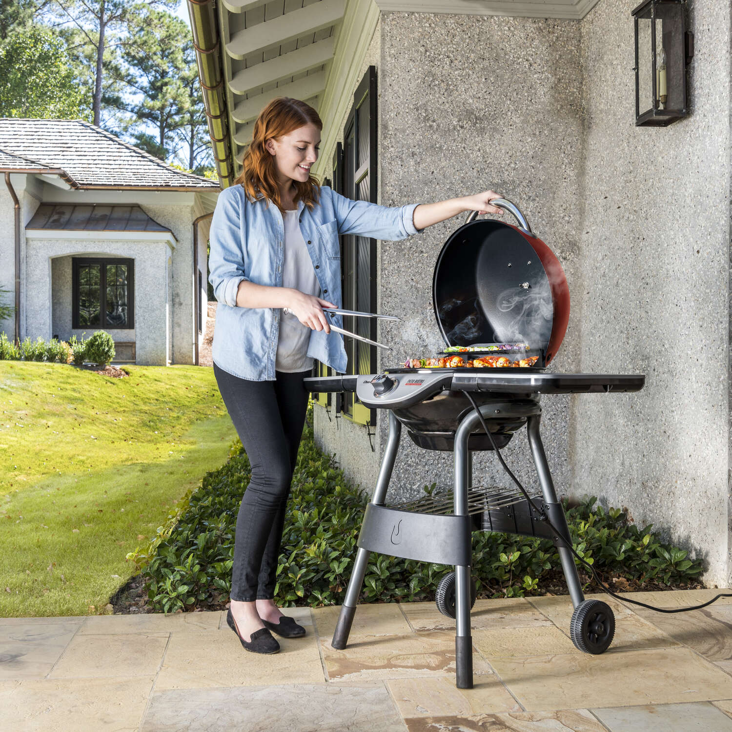 Char-Broil  Patio Bistro  Electric  Patio  Grill  Red