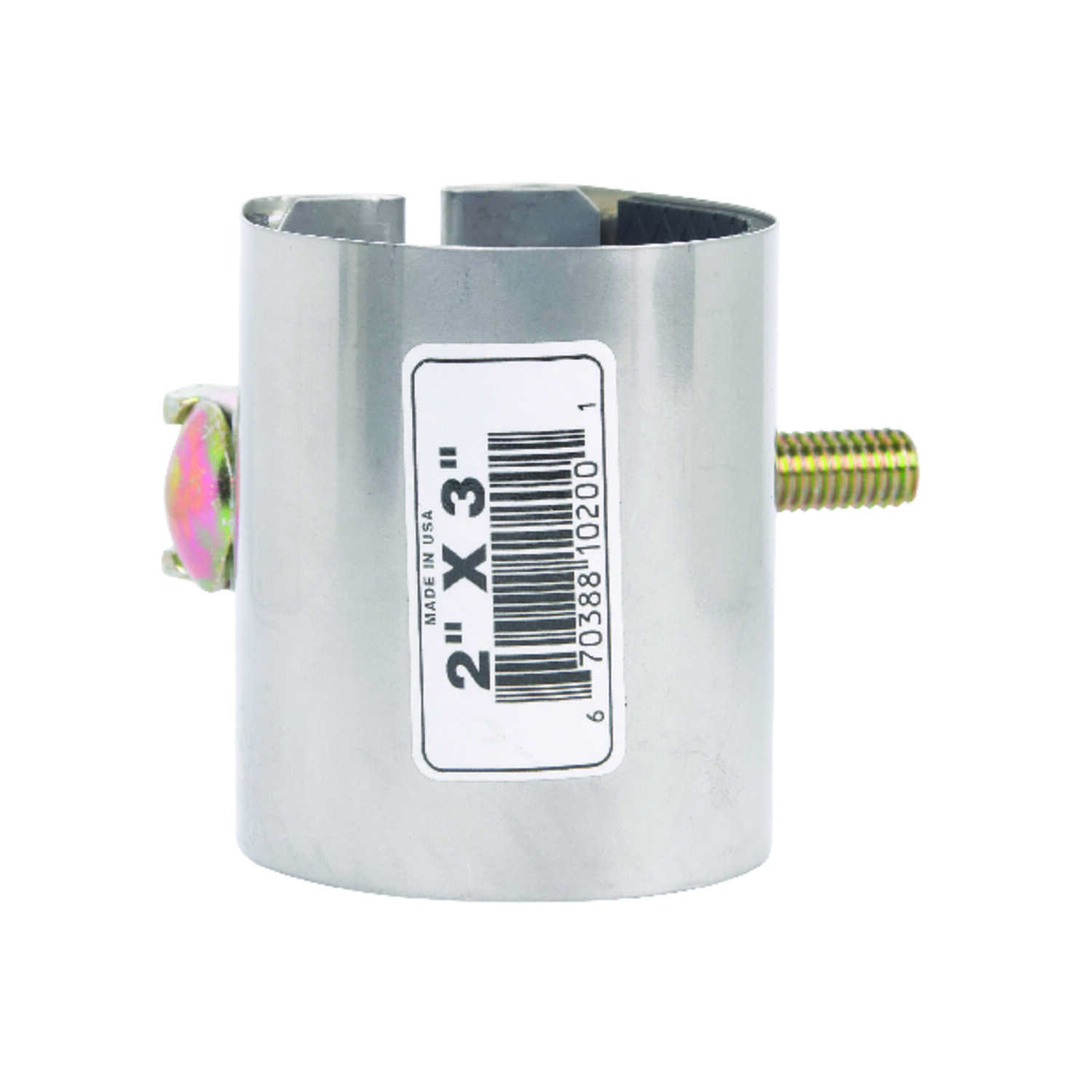 BK Products  2 in. Galvanized  430 Stainless Steel  Pipe Repair Clamp