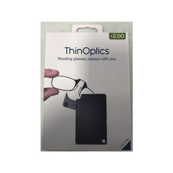 ThinOptics Always With You Black Reading Glasses w/FlashCard Case +2.00