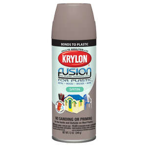 Krylon  Satin  Khaki  Fusion Spray Paint  12 oz.