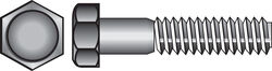Hillman  1/4-20 in. Dia. x 2-1/2 in. L Stainless Steel  Hex Head Cap Screw  50 pk