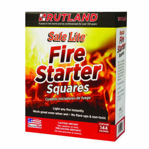 Rutland Safe Lite Wood Fire Starter 144 Pk