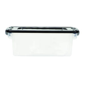 Homz  6-1/8 in. H x 16 1/4 in. W x 7 in. D Stackable Storage Bin