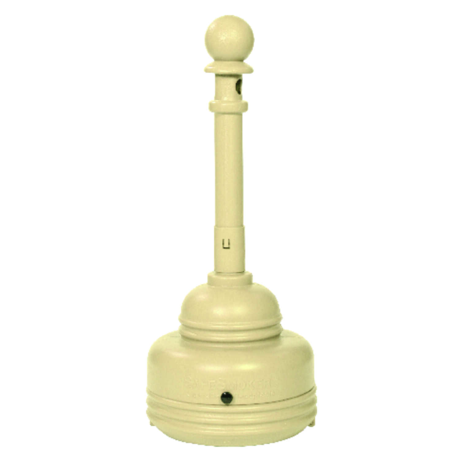 Eagle  Polyethylene  Cigarette Receptacle  Beige