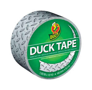 Duck  1.88 in. W x 10 yd. L Silver  Diamond Plate  Duct Tape