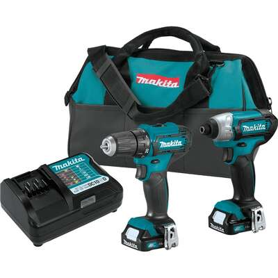 Makita CXT 12 volt Cordless Brushed 2 tool Drill/Driver and Impact Driver Kit