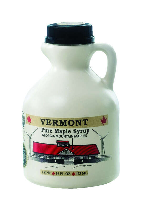 Georgia Mountain Maples  Vermont  Pure Syrup  1 pt. Jug