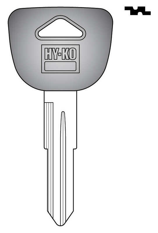 Hy-Ko  Automotive  Key Blank  EZ# HD91P  Double sided For Fits Some Honda Civic And Crx Ignitions