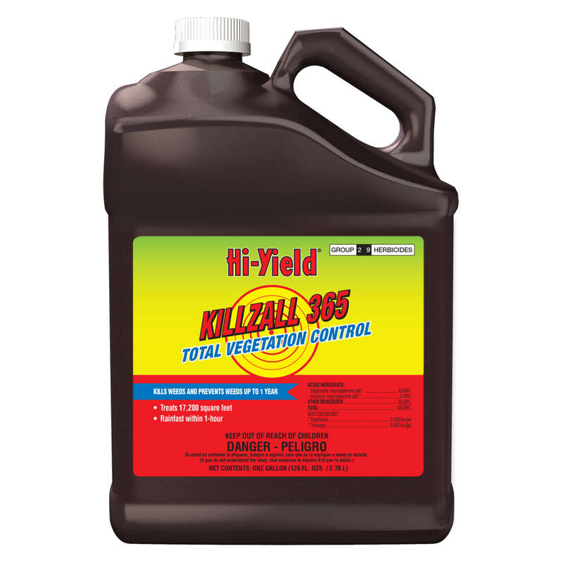 Hi-Yield  Killzall 365  Weed and Grass Killer  Concentrate  1 gal.