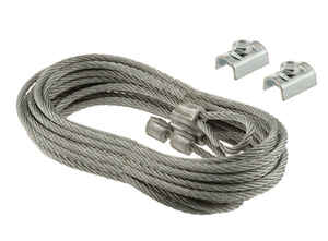 Prime-Line  104 in. L x 1/8 in. Dia. Carbon Steel  Safety Cables