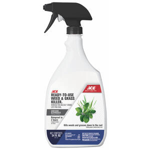 Ace  Weed and Grass Killer  RTU Liquid  24 oz.