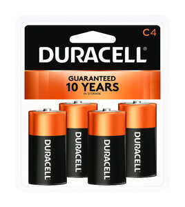 Duracell  Coppertop  C  Alkaline  Batteries  4 pk Carded  1.5 volts