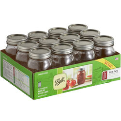 Ball Regular Mouth Mason Jar 1 pt. 12 pk