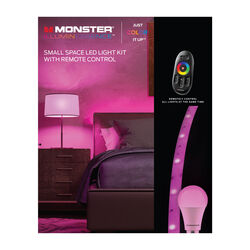 Monster Just Color It Up  6.5 ft. L Multicolored  Plug-In  LED  Mood Light Strip Kit with Adapter  1