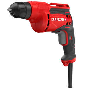 Craftsman  3/8 in. Keyless  Corded Drill Driver  6.5 amps 2500 rpm Variable Speed 3.17 lb.