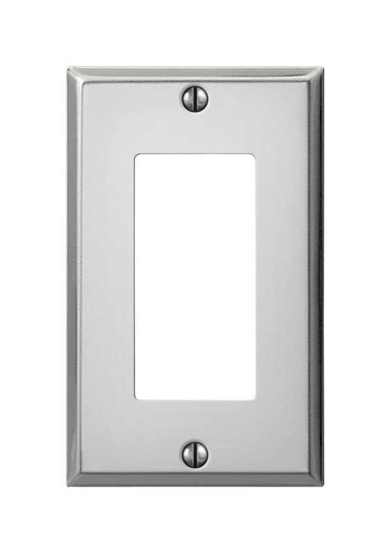 Amerelle  Contractor  1 gang Wall Plate  1 pk Stamped Steel