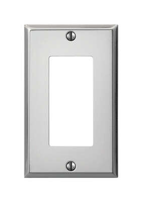 Amerelle  Contractor  Polished Chrome  1 gang Stamped Steel  Rocker  Wall Plate  1 pk