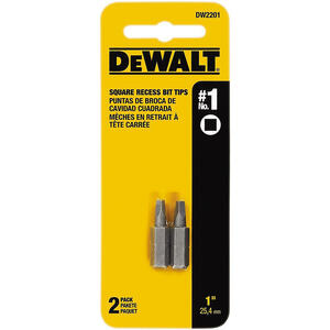 DeWalt  Impact Ready  Square Recess  #1   x 1 in. L Screwdriver Bit  Heat-Treated Steel  2 pc.
