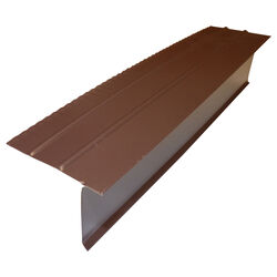 Amerimax  2.25 in. W x 10 ft. L Aluminum  Overhanging Roof Drip Edge  Brown