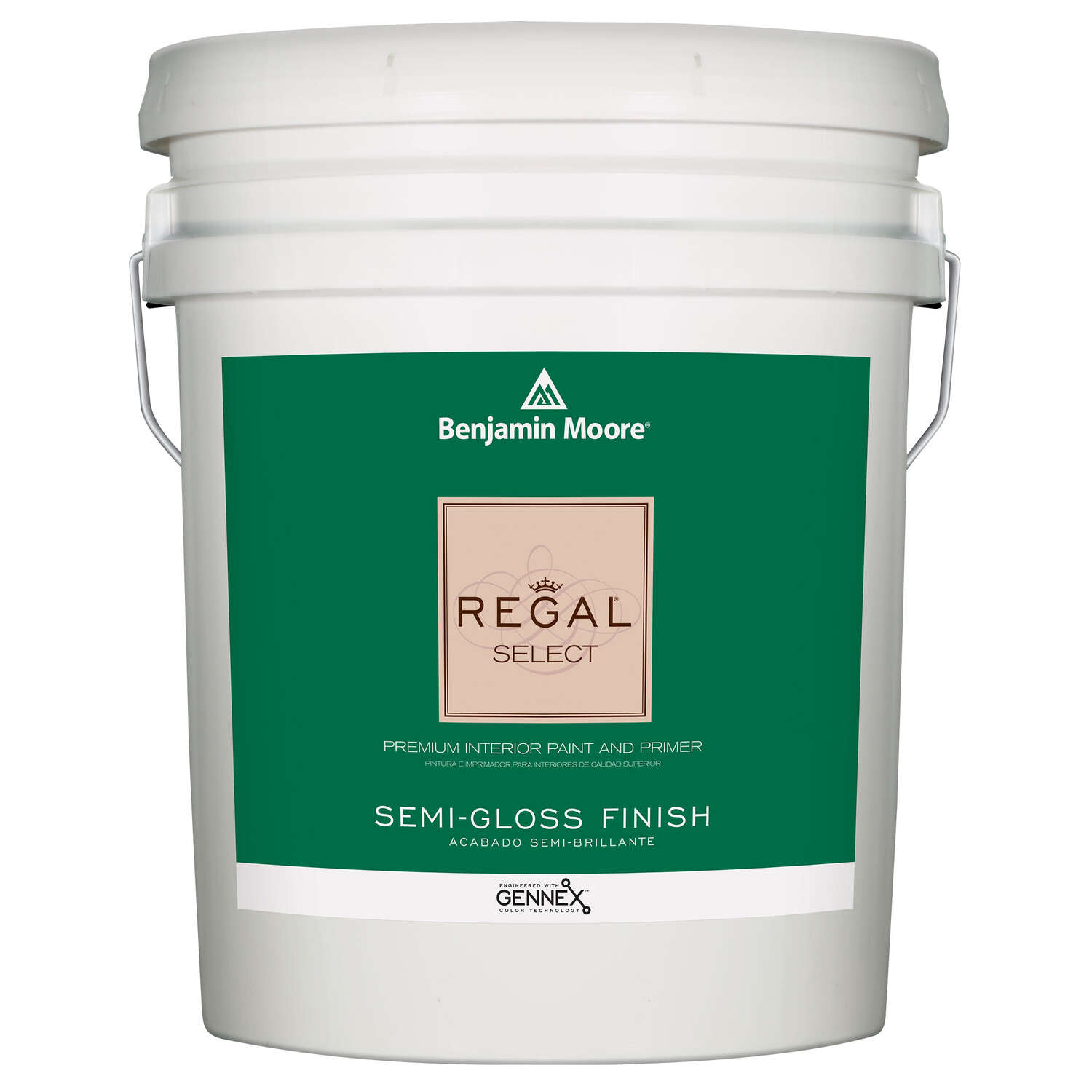 Benjamin Moore  Regal Select  Semi-Gloss  Base 1  Paint and Primer  Interior  5 gal.