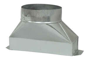 Deflect-O  4 in. Dia. x 10 in. L Galvanized Steel  Duct