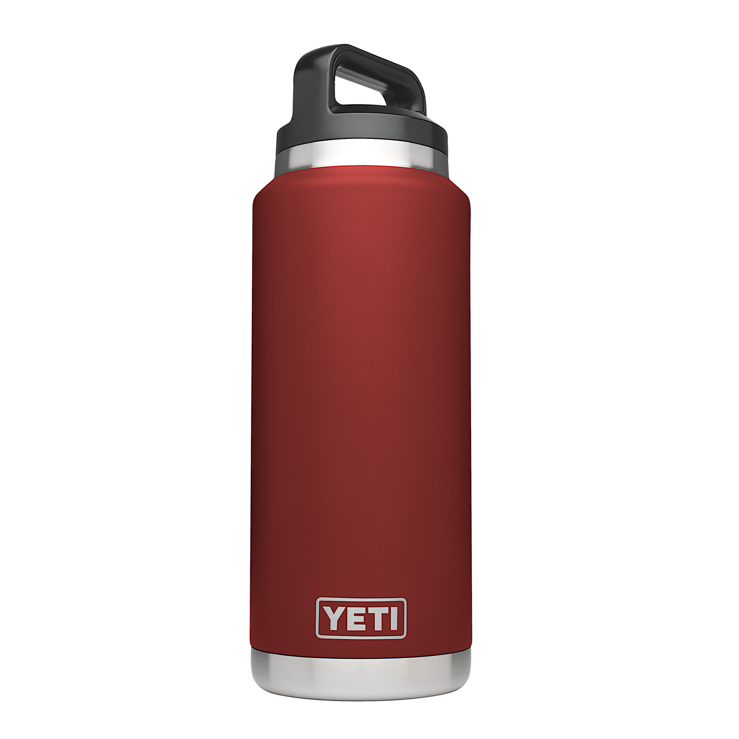 YETI  Rambler  Brick Red  Insulated Bottle  Stainless Steel  BPA Free 36 oz.