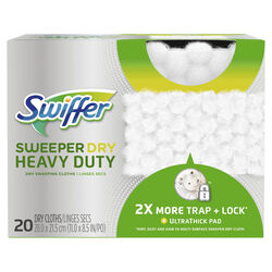Swiffer  SweeperDry Heavy Duty  11 in. W x 8.5 in. L Cloth  Refill Pad  20 pk