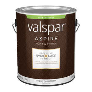 Valspar  Aspire  Satin  Tintable  Neutral Base  Acrylic Latex  Paint and Primer  Outdoor  1 gal.