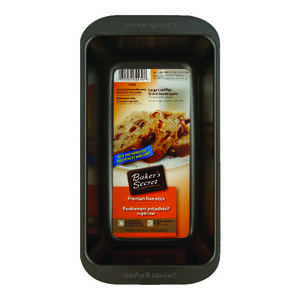 Baker's Secret  9-1/4 in. W x 5-1/4 in. L Loaf Pan  1  Gray