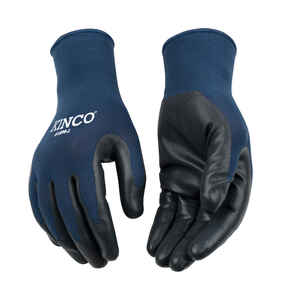 Kinco  Men's  Indoor/Outdoor  Nitrile  Palm  Grip Gloves  Blue/Gray  XL  1 pk