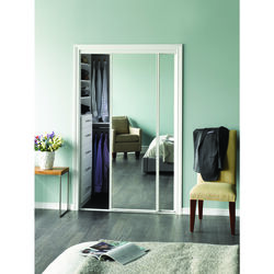 Erias  60 in. W x 3 mm  Steel  Sliding Bypass Door