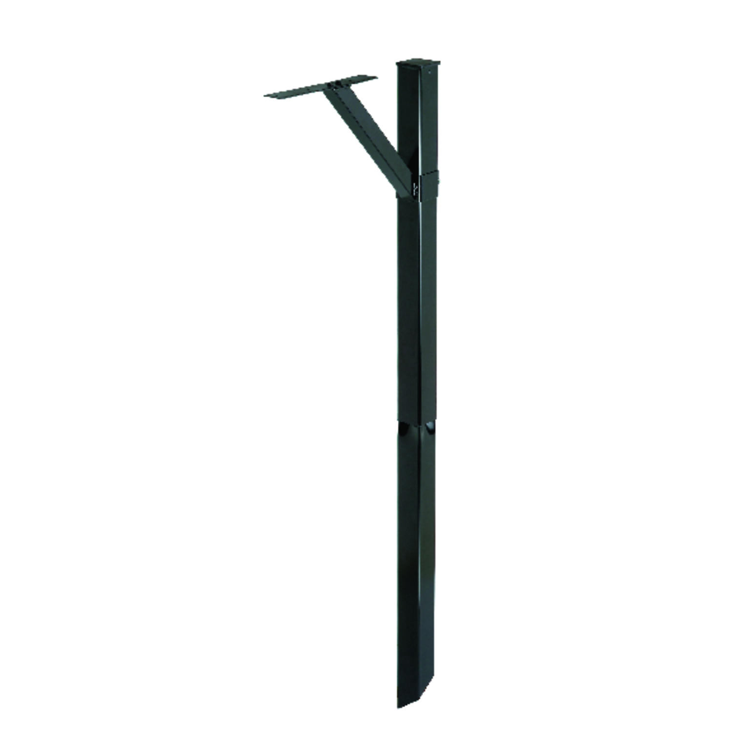 Gibraltar Mailboxes  34 in. H x 20-9/32 in. D x 5-1/2 in. W Powder Coated  Black  Steel  Mailbox Pos