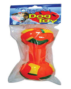 Diggers  Dumbell  Red  Dumb Bell Sports Dog Toy  Large  Vinyl