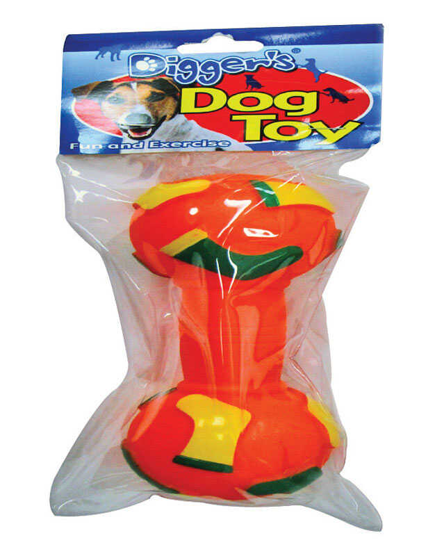 Diggers  Red  Dumbell  Vinyl  Dumb Bell Sports Dog Toy  Large