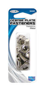 Custom Accessories  Gray  License Plate Fasteners  Metal