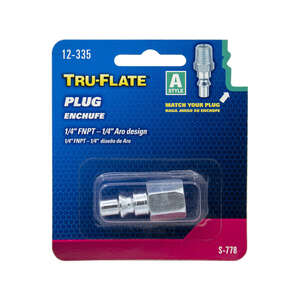 Tru-Flate  Steel  Air Plug  1/4 in. Female  1/4 in. FNPT  1 pc. Female  1/4 in.