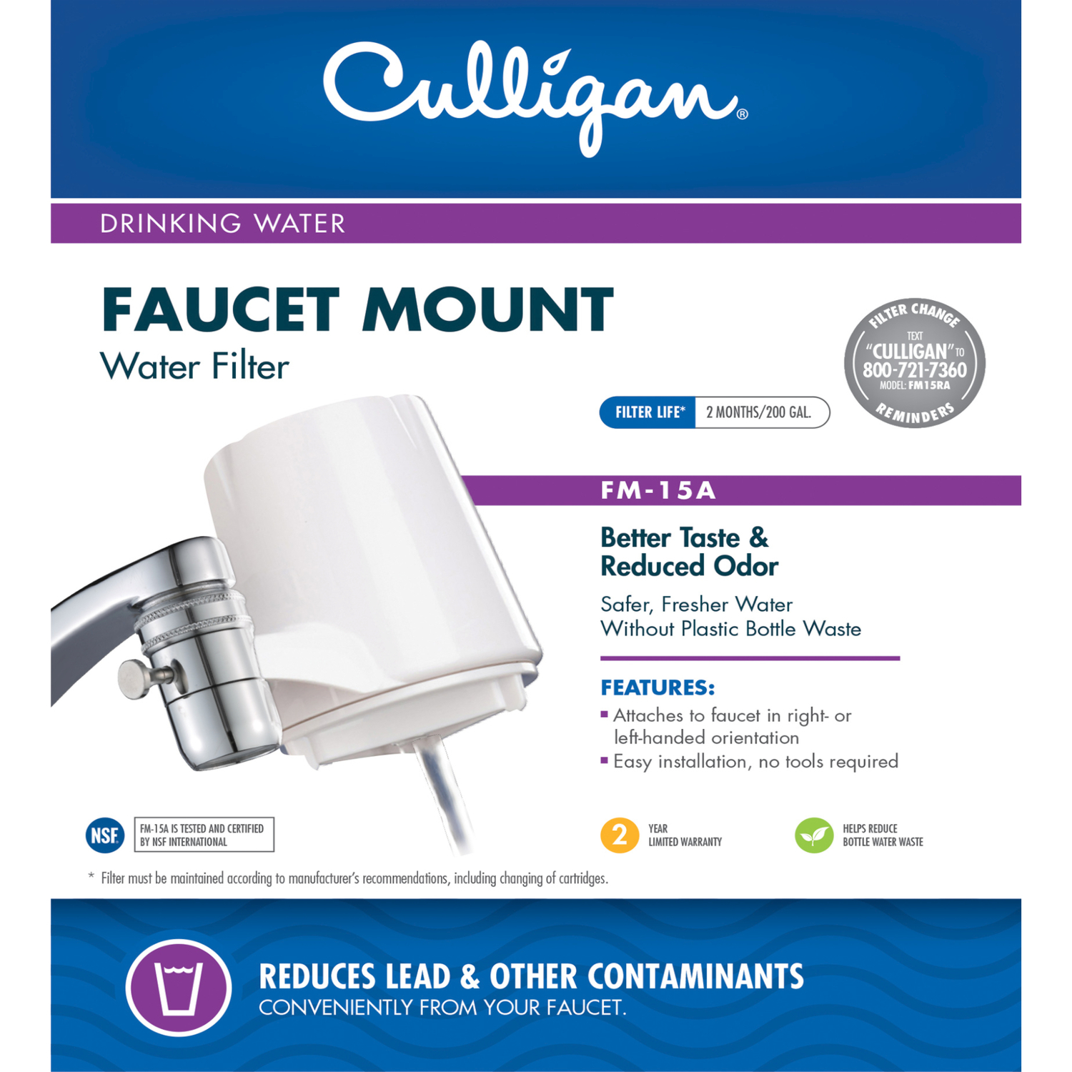 Culligan Better Water Pure and Simple Faucet Filter System For ...