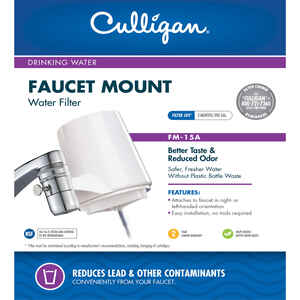 Culligan  Better Water Pure and Simple  Faucet Filter  For Faucet Mount 200 gal.
