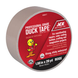 Ace 1.88 in. W x 20 yd. L Beige Solid Duct Tape