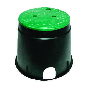 NDS  13 in. L x 13 in. W x 11.6 in. H Round  Valve Box with Lid
