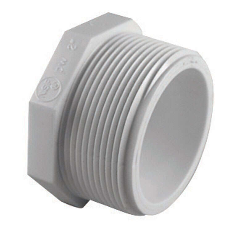 Charlotte Pipe  Schedule 40  2 in. MPT   x 2 in. Dia. FPT  PVC  Plug