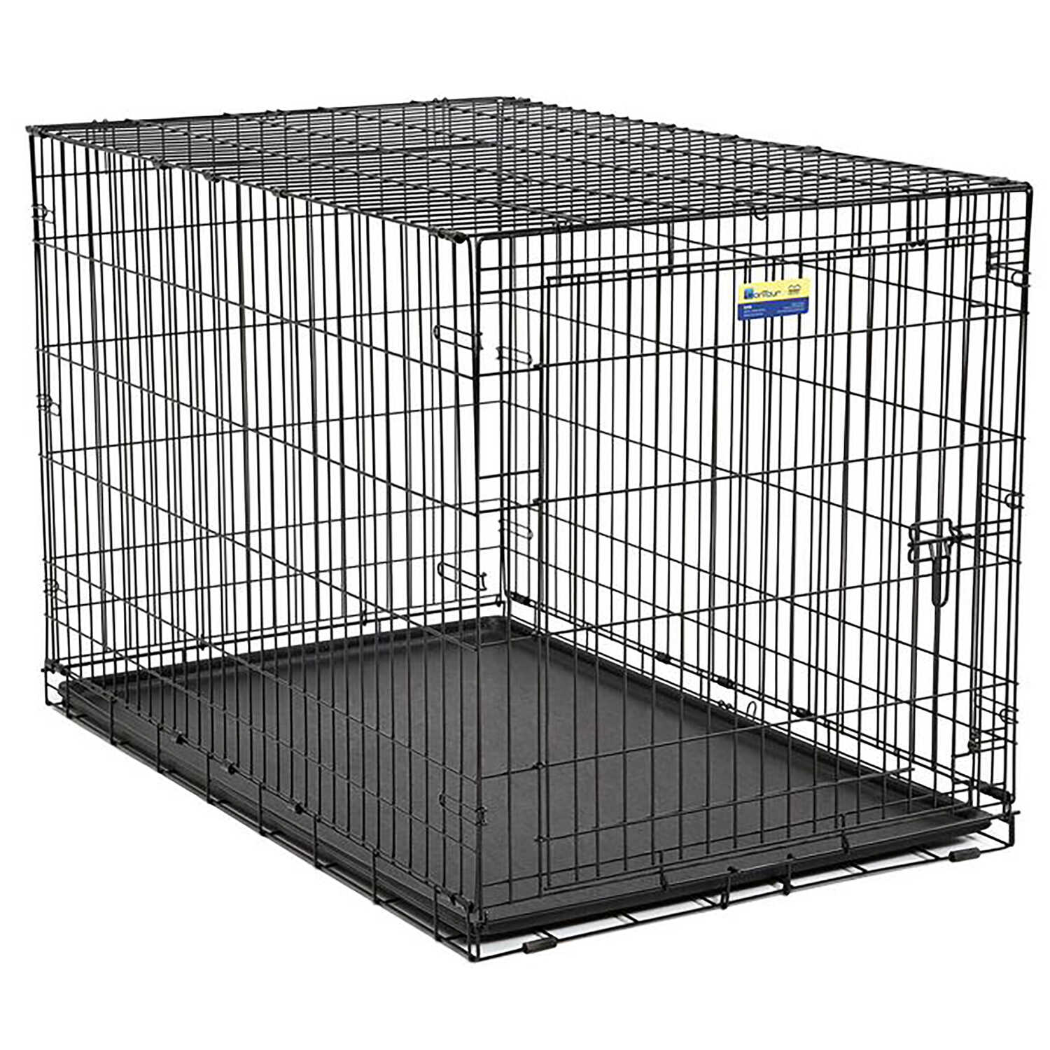 Contour  Extra Large  Steel  Dog Crate  31.9 in. H x 33 in. W Black