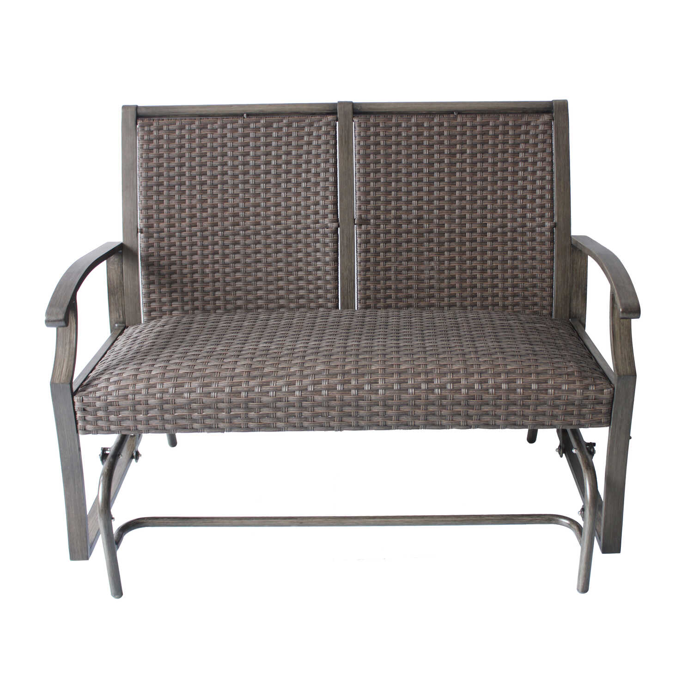 Living Accents Metropolitan Patio Furniture: Living Accents Brown Aluminum Rockland Chair