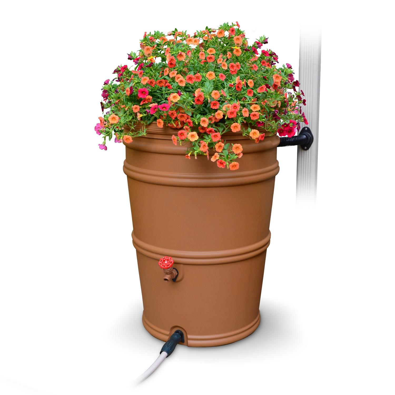 EarthMinded Terra Cotta Rain Barrel Polyethylene 45 gal. - Ace Hardware