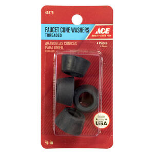 Ace  3/8 in. Dia. Rubber  Threaded Faucet Cone Washer  2
