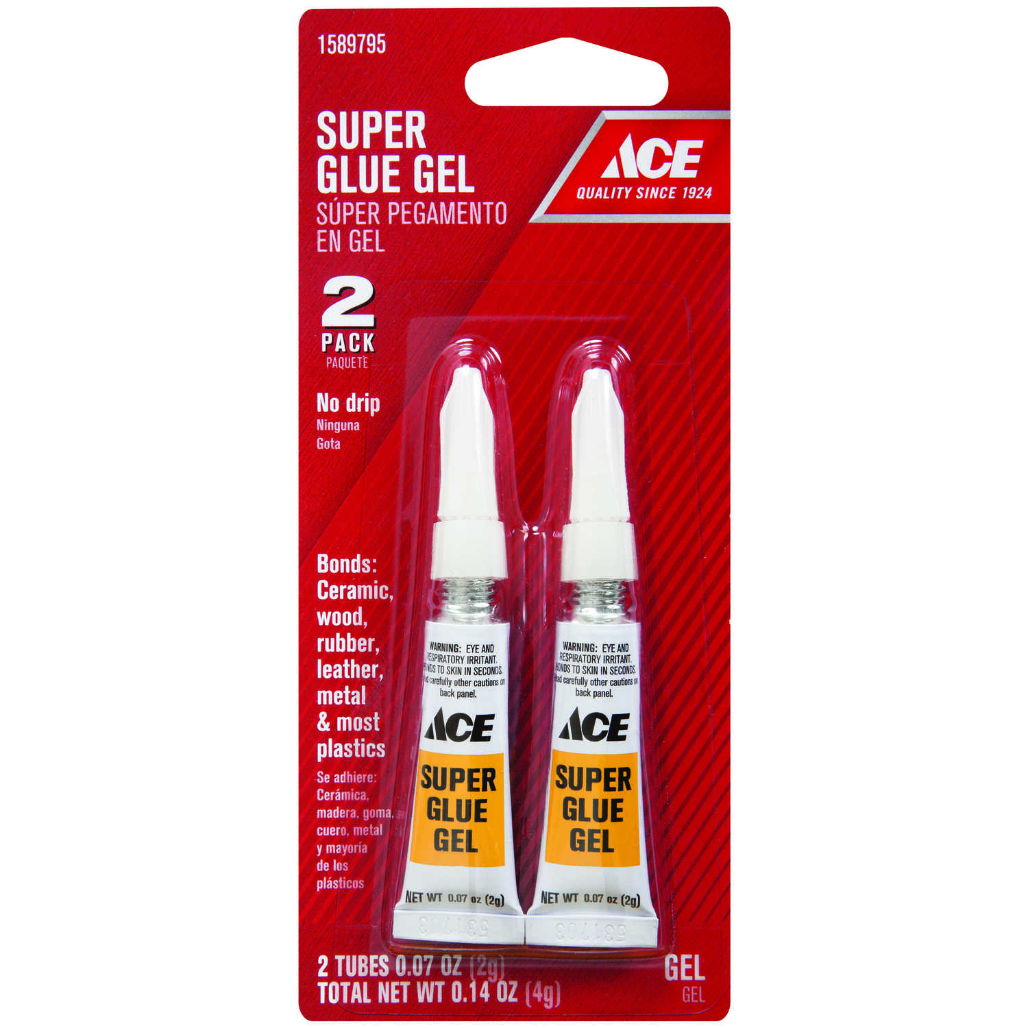 Ace  Super Strength  Gel  2 pk 2 gm Glue